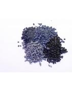 Grain coloré du gris au noir pour la réalisation de mortier de résine.
